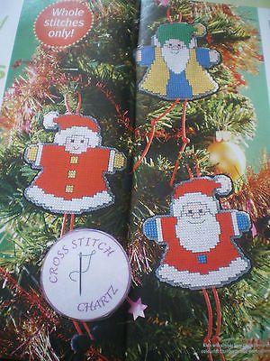 De-Natal-Papai-Noel-amigos-por-Lucie-Heaton-Grafico-De-Ponto-Cruz-So