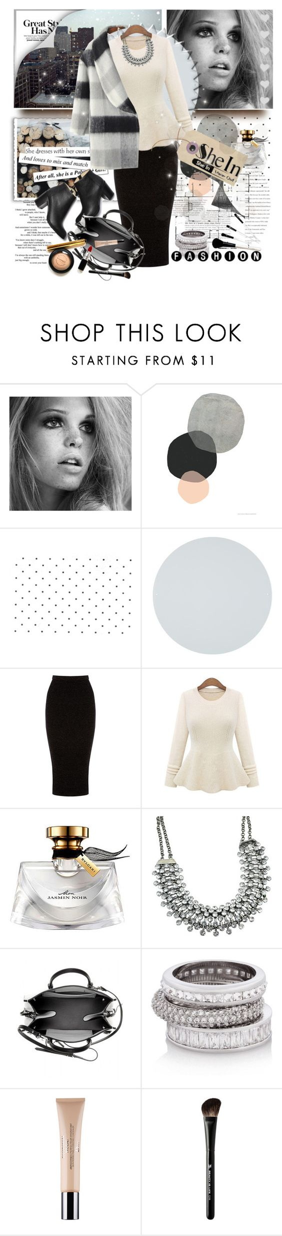 """Shein Beige Round Neck Knit Sweater - Contest with a Prize!"" by astromeria ❤ liked on Polyvore featuring Warehouse, Bulgari, Paul Andrew, Balenciaga, Henri Bendel, Christian Dior and Beauty Is Life"