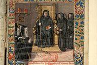 Abbesse bénédictine priant sainte Scolastique (à préciser)