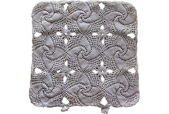 Vintage European Crochet Lace Pillow Cover
