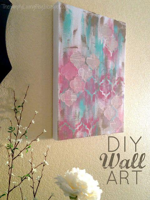 Simply Living  DIY Painted Wall Art