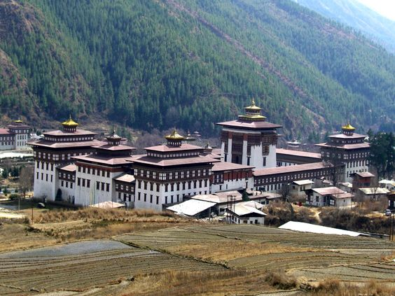 The Trashichodzong  Thimphu, Bhutan