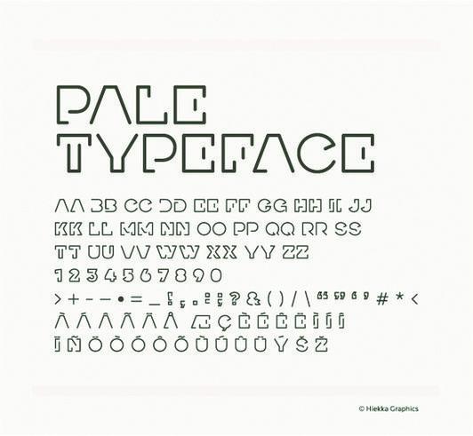 Pale typeface Image