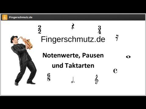 [Noten lernen] - Notenwerte, Pausen und Taktarten - YouTube
