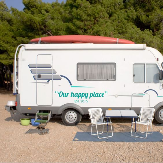 Any Text! Custom Personalized Customized Camper RV Vinyl Decal Motorhomes Pop Ups Outdoor Vinyl Lettering by RightSideStuff on Etsy https://www.etsy.com/listing/221256875/any-text-custom-personalized-customized