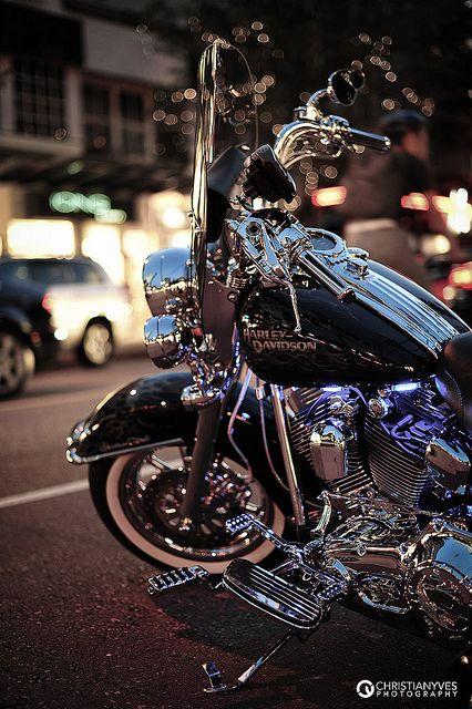 Highlight on a Harley