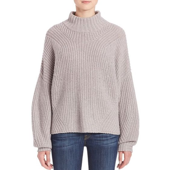 Rebecca Minkoff Algo Oversize Sleeve Turtleneck Sweater (€190) ❤ liked on Polyvore featuring tops, sweaters, apparel & accessories, oversized pullover sweater, long sleeve pullover sweater, turtleneck sweater, pink pullover sweater and long sleeve turtleneck