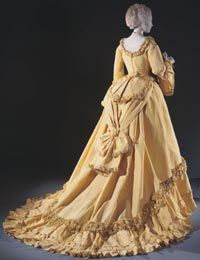 Woman's Dinner Dress: Bodice and Skirt  Made in Paris, France    c. 1868