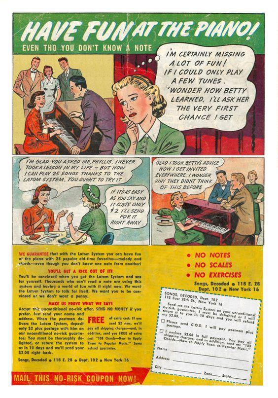 old comic book ad