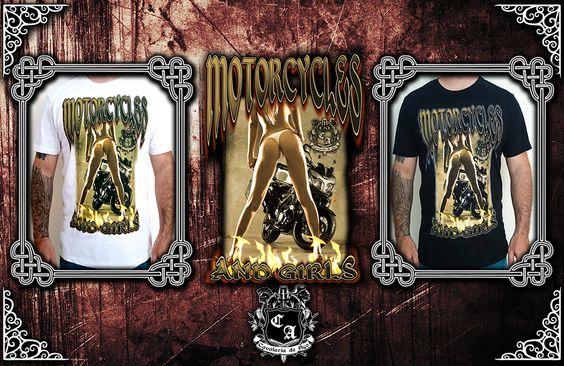 (Camiseta Big Trail Motorcycles and Girls).  Visite https://www.cavalariastore.com.br e conheça esta camiseta com a arte exclusive desenvolvida pela Cavalaria de Aço!