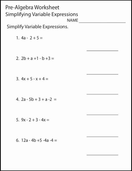 8th Grade Beginning Math Worksheet Algebra Worksheets Basic Algebra Worksheets Pre Algebra Worksheets