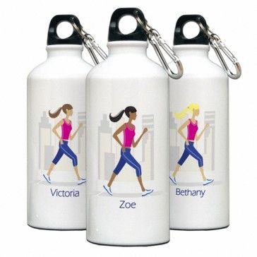 "Personalized ""Go-Girl"" Walk/Run Water Bottle - Bridesmaid Gifts $20.99  #bridesmaidgifts #bridesmaid #Wedding #weddinggifts #Gift"