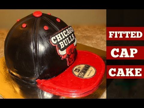 Chicago Bulls Fitted Cap Cake - YouTube