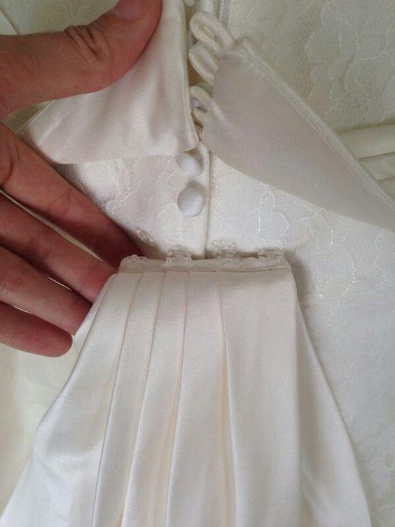Vestido de Noiva - Costas / detalhe da cauda