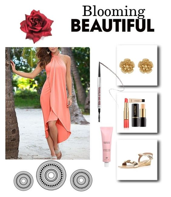 """""""Untitled #189"""" by fluffbunny231 ❤ liked on Polyvore featuring Miriam Haskell, Estée Lauder, Lancôme, Benefit and Dorothy Perkins"""