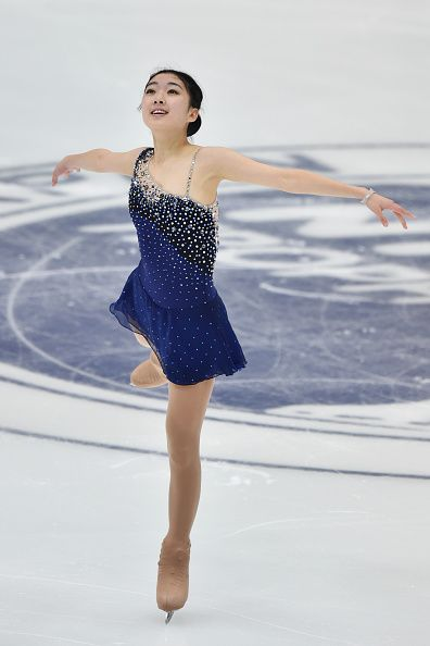 Zijun Li of China competes in the ladies's short program during the day one of the NHK Trophy ISU Grand Prix of Figure Skating 2015 at the Big Hat on...