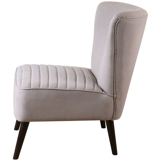 Uttermost Zaine Gray Armless Chair 23201