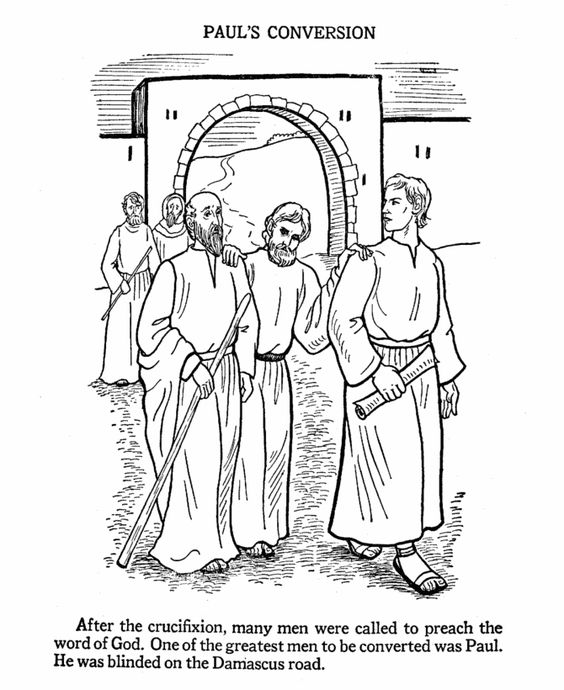 paul the apostle coloring pages - photo#6