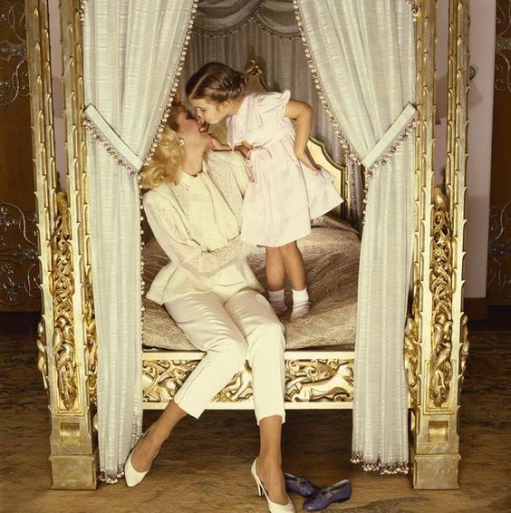Ivana And Ivanka Trump Ivana and a young Ivanka Trump in Palm Beach, Florida.