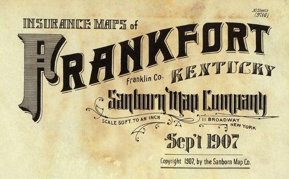 Frankfort Kentucky September 1907 Typography Vintage