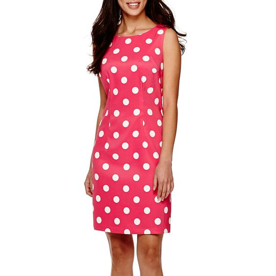 Alyx® Sleeveless Dot Sheath Dress - JCPenney