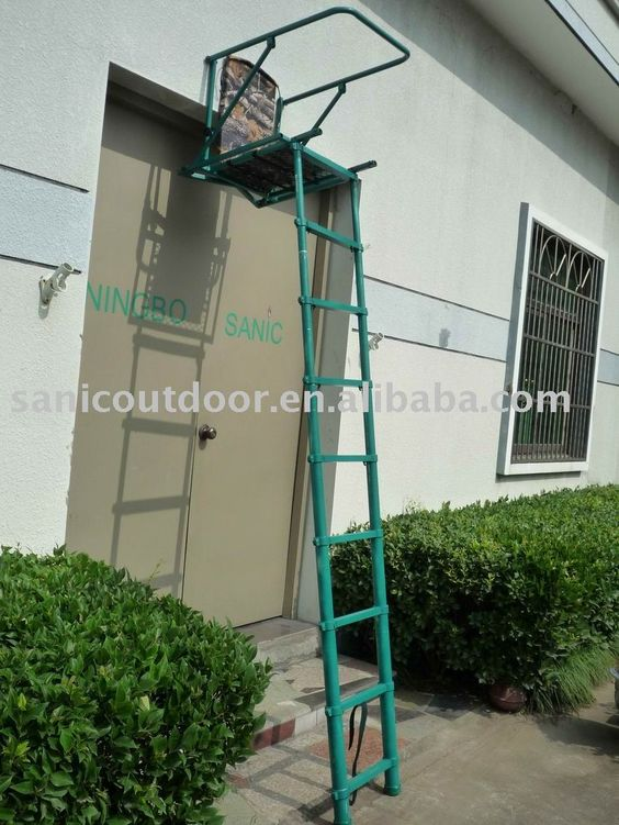 New telescopic aluminum ladder stand folding hunting for Ladder tree stand plans