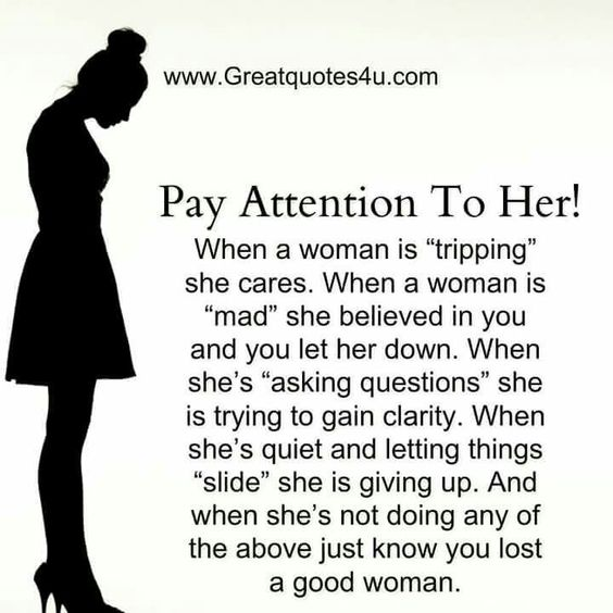 Pay attention to her...