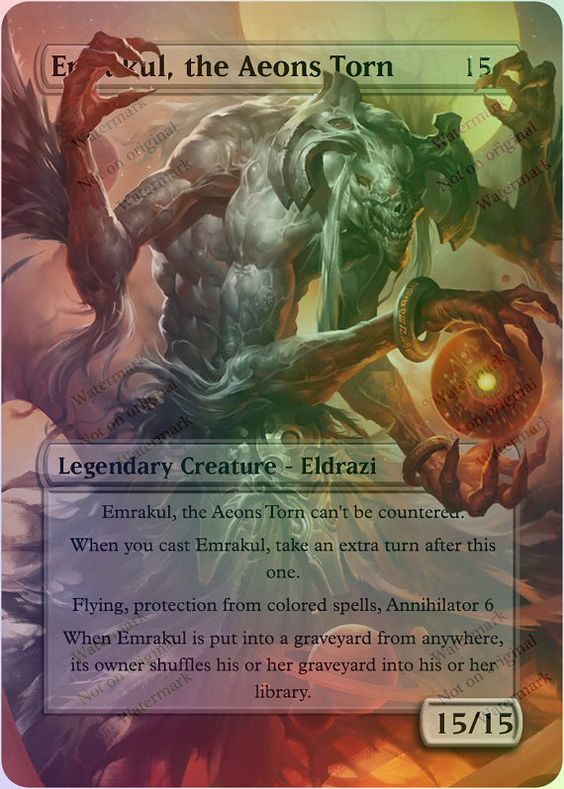 Emrakul, the Aeons Torn Magic The Gathering Altered Art ...
