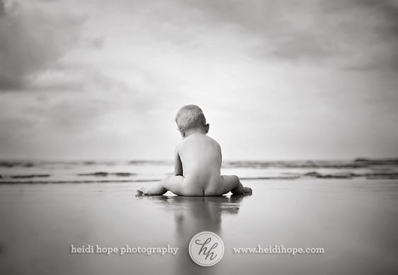 Naked beach baby. Must do for Baby Haby's first beach trip.