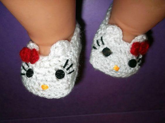 Crochet Pattern Hello Kitty Baby Booties Traitoro For