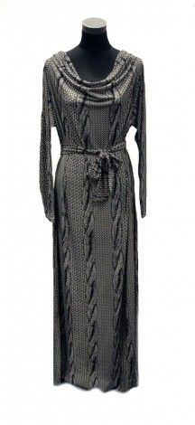 The Realist Rope Cowl Neck Dress - Abaya Addict