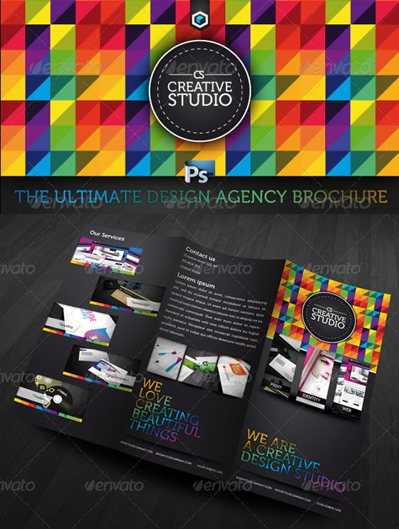 Creative Tri-fold Brochure Design Templates EntheosWeb Design - studio brochure