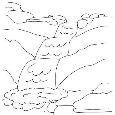 Cara menggambar air terjun untuk pemula