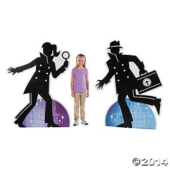 Agents of Truth Floor Stand-Ups, Cardboard Cutouts, Party Decorations, Party Supplies - Oriental Trading