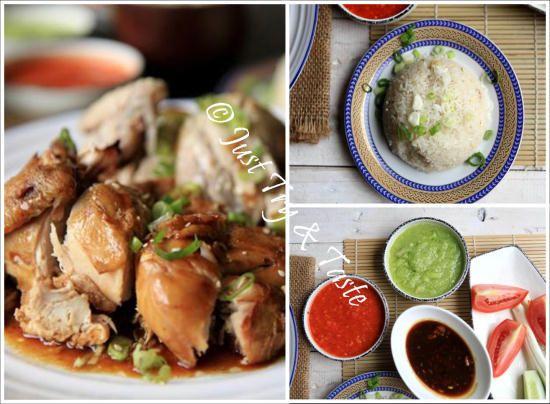 Resep Nasi Ayam Hainan Komplit Dengan 3 Macam Saus Resep Ayam Resep Makanan Masakan