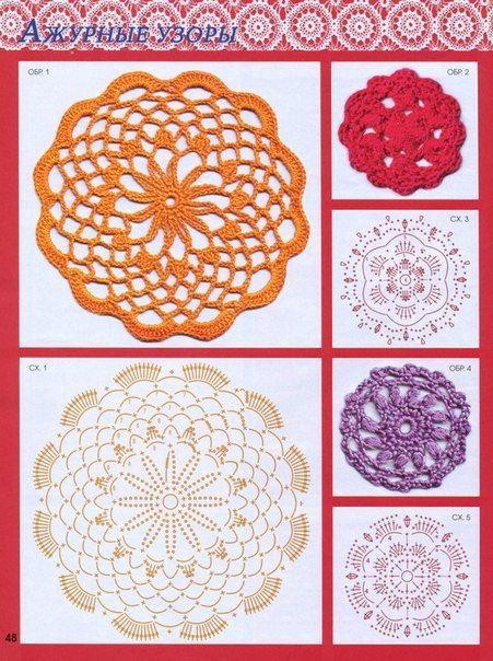 Delicadezas en crochet Gabriela: Muestras tejidas de motivos circulares màs de 20 modelos