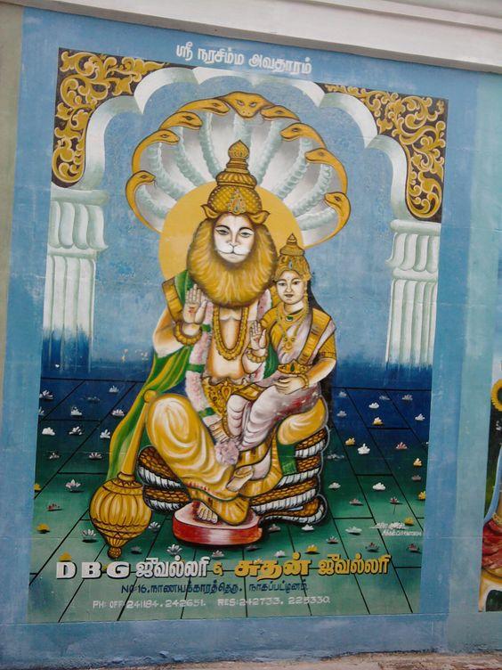 Singaravelar Temple - Sikkal - Tamilnadu - Inia - wall painting