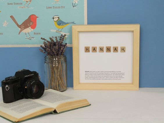 Our personalised Scrabble art is perfect for a birthday present, unique baby…