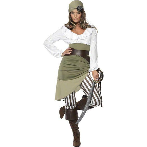 Piratenkostüm Damen Piratin Kostüm Piratenbraut Seeräuberin Freibeuterin S 36/38