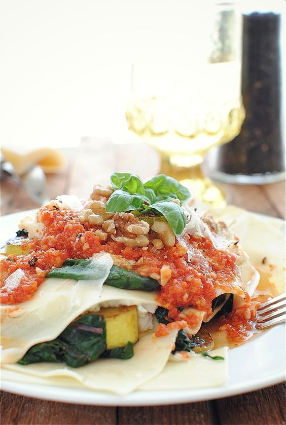 Free-form Vegetarian Lasagna by @Beverly Weidner | Bev Cooks