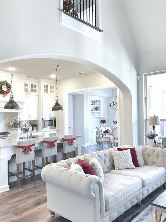Living Room Archway To Kitchen Family Room Pinterest