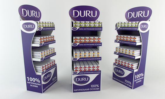 Duru floor display. POSm. on Behance