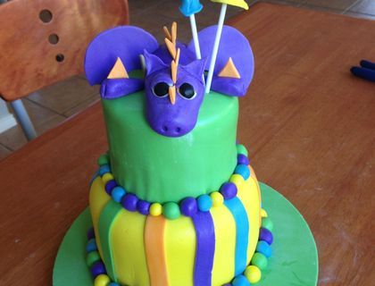 I used the incorrect ganache recipe under the fondant - it was way too soft and didn't harden, so the whole cake was smooshy and bulgy and r...
