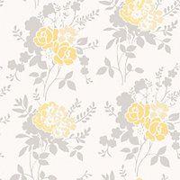 Fine Decor Claudia Wallpaper - Yellow