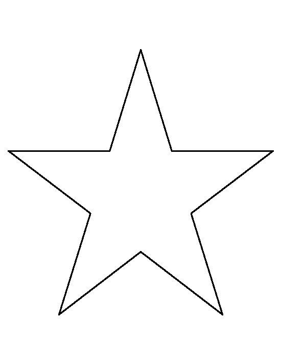 8 inch star pattern. Use the printable outline for crafts ...