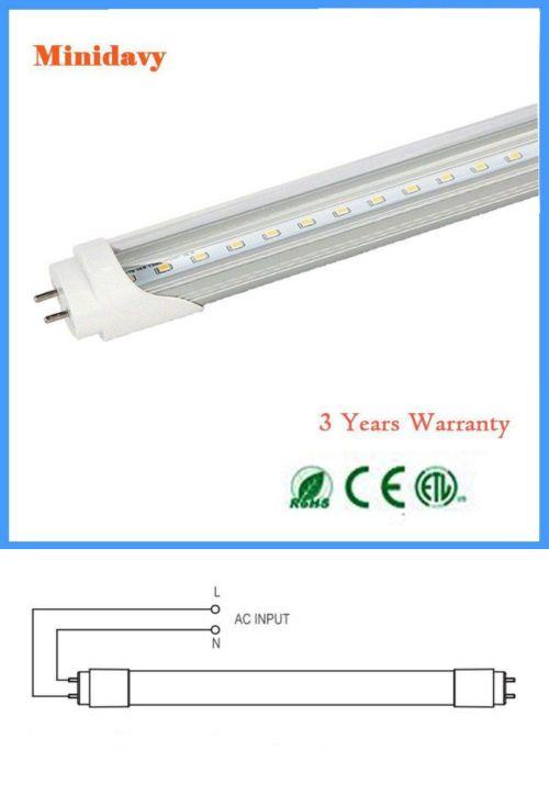 4ft 18w 6000k Single End Power T8 Fluorescent Replacement Led Tube Light 10 Pack Led Tube Light Tube Light Led Tubes