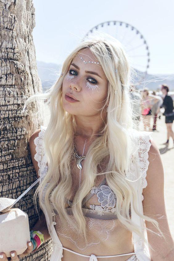 Inspirações de make e cabelo para o Coachella & outros festivais
