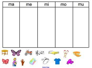 actividades con la silaba ma me mi mo mu - Buscar con Google