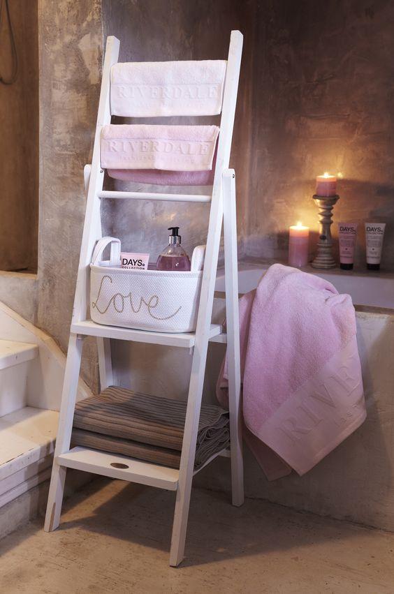 20170414&185738_Witte Ladder Badkamer ~ Badkamer, Romantische badkamers and Roze badkamers on Pinterest