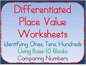 Place Value Worksheets:Understanding Ones, Tens, Hundreds ...